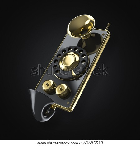 vintage steam punk smart phone - stock photo