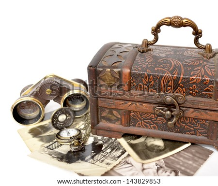 vintage still life - stock photo
