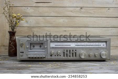 Vintage,Still Life old radio - stock photo