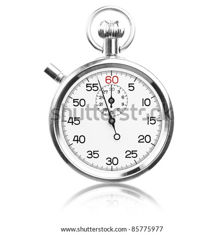 vintage stopwatch isolated on a white background - stock photo