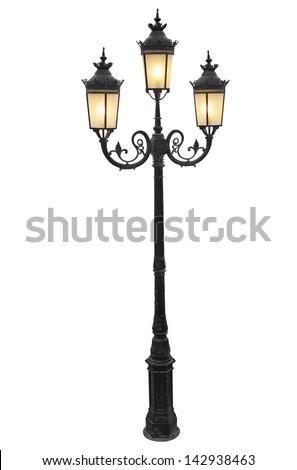 Vintage street lampot - stock photo
