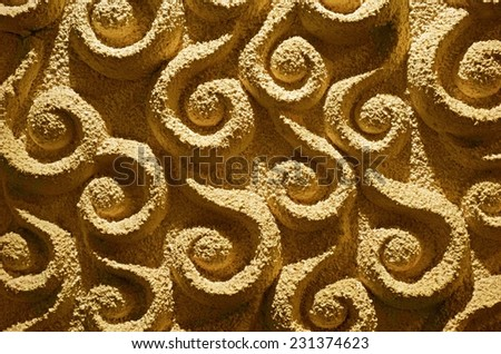 Vintage stucco decoration on a wall background - stock photo