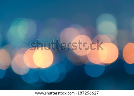 Vintage style abstract blur bokeh light. Defocused  background. - stock photo