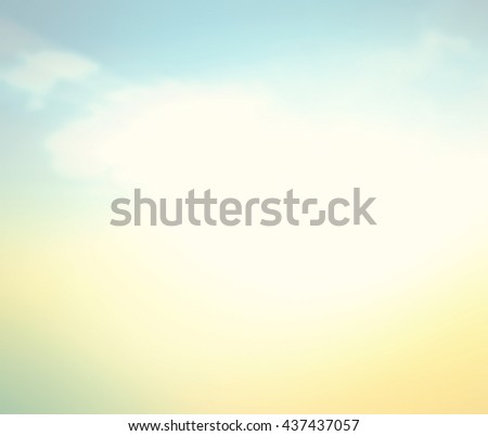 Vintage Style Blur Beach Backdrop Bright Sun 2016 2017 Sand Sea Bokeh Flare Surf Soft Zen Glow Ocean Wave Clear Retro Aqua Relax Shine Light Clean Pastel Fresh Bless Smooth Orange Horizon Air Park. - stock photo