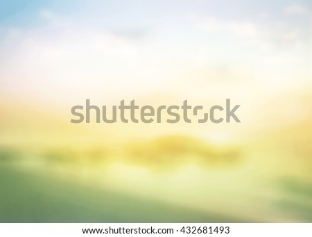 Vintage Style Blur Beach Backdrop Bright Sun Sand Sea Bokeh Flare Surf Soft Zen Glow World Ocean Day Wave Clear Retro Aqua Relax Shine Light Clean Pastel Fresh Bless Smooth Horizon Air Park Rainbow. - stock photo