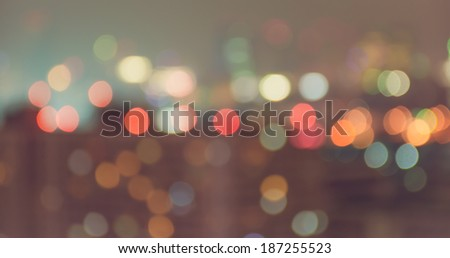 Vintage style blur bokeh light. Defocused  background. - stock photo