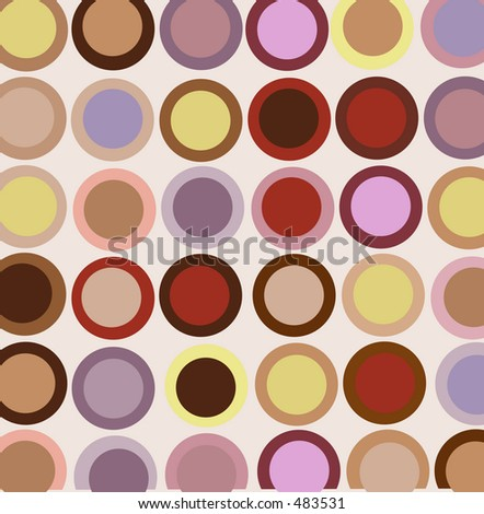 Vintage style circles background - stock photo