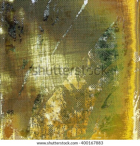 Vintage style designed background, scratched grungy texture with different color patterns: yellow (beige); brown; green; white; gray - stock photo