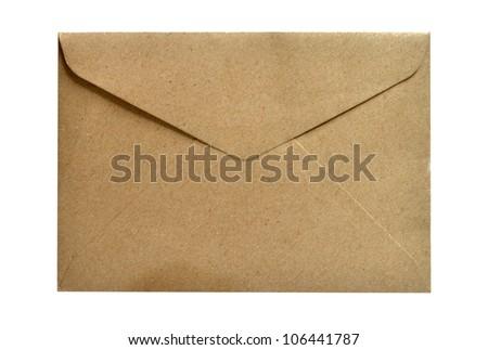 Vintage style envelope - stock photo