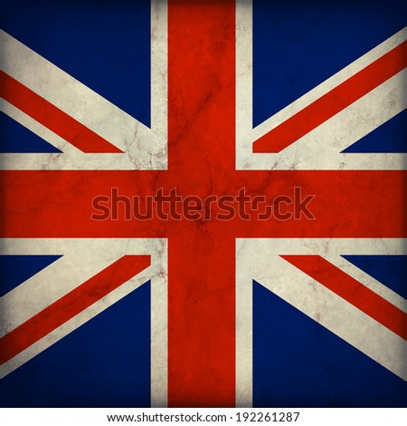 Vintage style. Great Britain grunge flag - stock photo