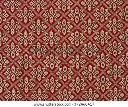 Vintage style of carpet pattern background pattern Thailand. - stock photo