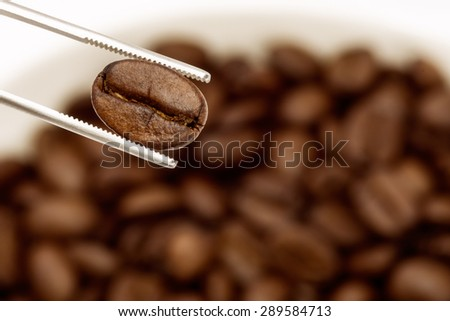 Vintage style, roasted coffee beans from specially selected coffee's just a lot. - stock photo