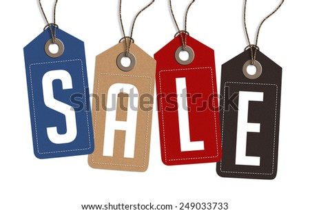 Vintage Style Sale Tags Design - stock photo