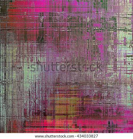 Vintage style shabby texture or background with classy grungy elements and different color patterns: yellow (beige); brown; red (orange); purple (violet); cyan; pink - stock photo