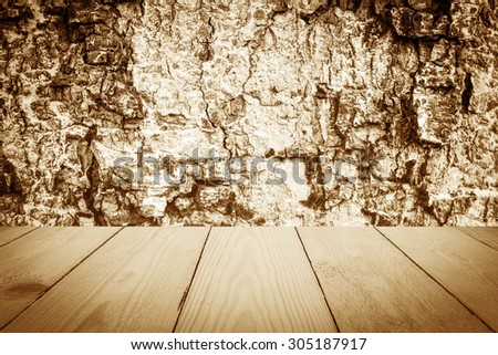 Vintage style - Tree bark texture and Wood Texture for Background. - stock photo