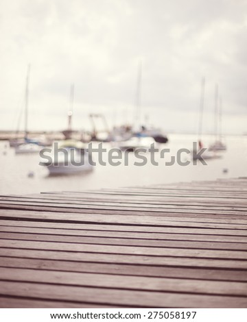 Vintage Summer Port  - stock photo