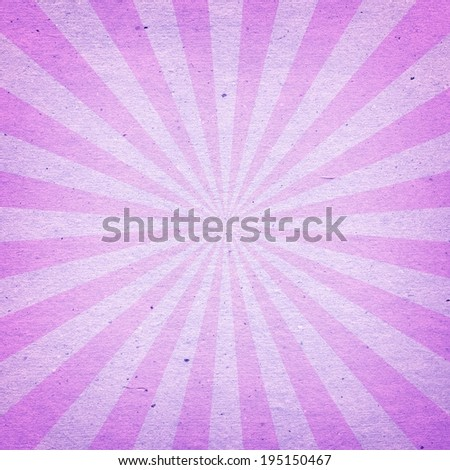 Vintage Sunburst Pattern. Radial background made of pink and purple recycled paper - stock photo