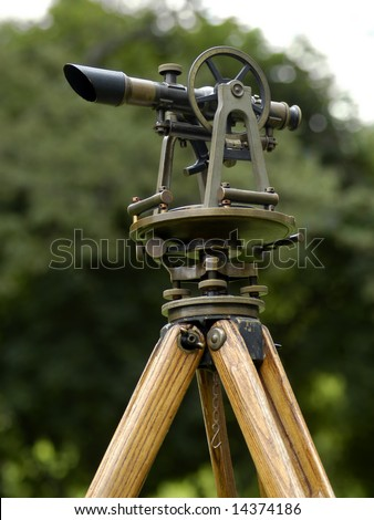 Vintage Surveying Tool - stock photo