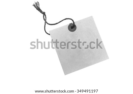 Vintage tag label isolated on white background - stock photo