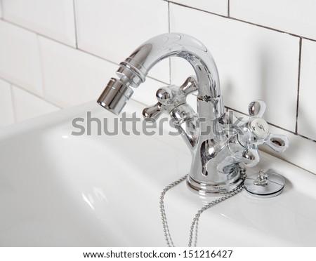 vintage tap - stock photo