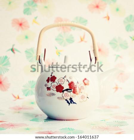 Vintage Teapot - stock photo