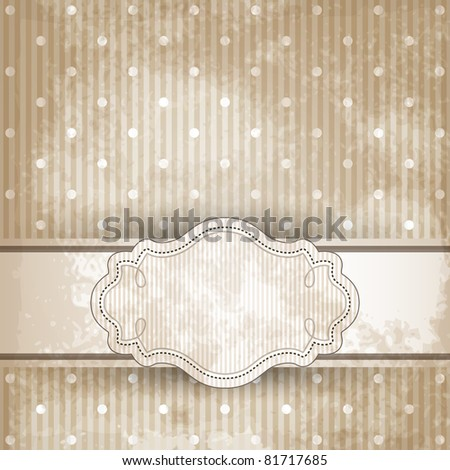 Vintage template frame design for greeting card - stock photo