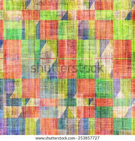 Vintage Template. With different color patterns: yellow (beige); green; blue; red (orange); pink - stock photo