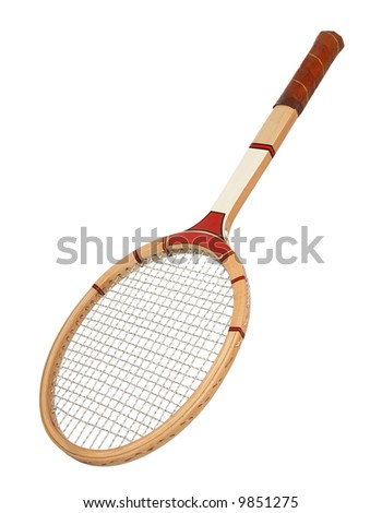 Vintage tennis raquet. - stock photo
