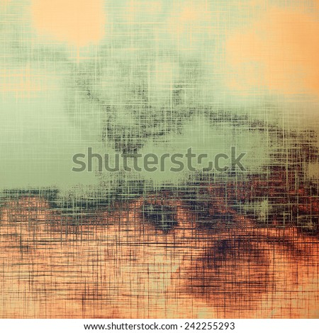 Vintage texture. With different color patterns: green; brown; gray; yellow (beige) - stock photo