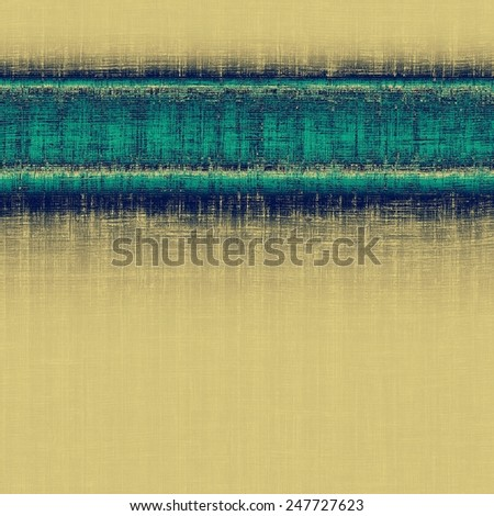 Vintage texture with space for text or image, grunge background. With different color patterns: yellow (beige); blue; gray; cyan - stock photo