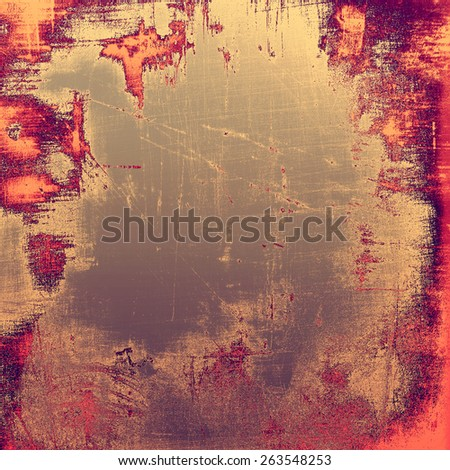 Vintage texture with space for text or image, grunge background. With different color patterns: brown; gray; red (orange); purple (violet) - stock photo