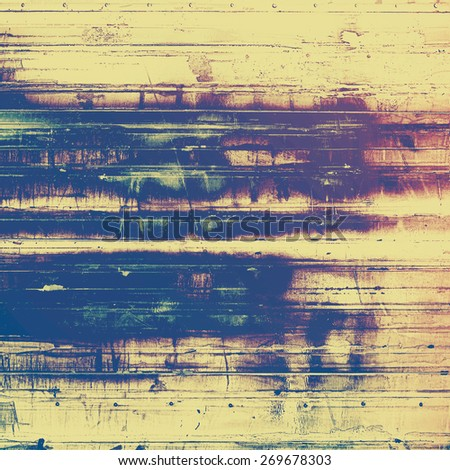 Vintage texture with space for text or image. With different color patterns: purple (violet); blue; yellow (beige) - stock photo
