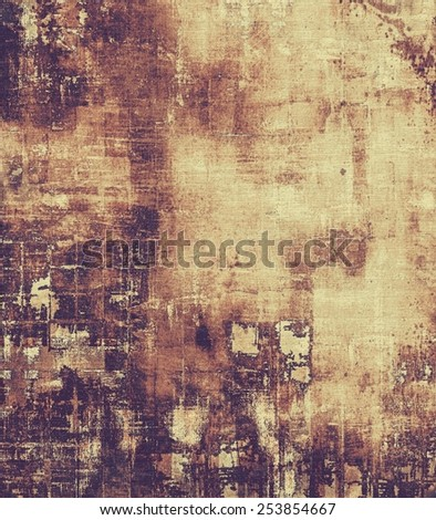Vintage textured background. With different color patterns: yellow (beige); brown; purple (violet); black - stock photo