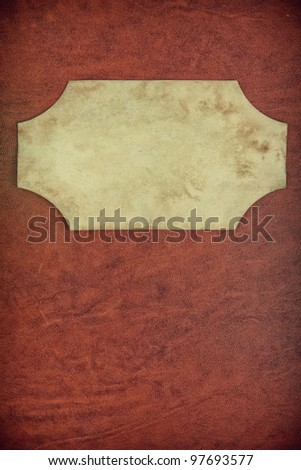 Vintage textured background with paper frame - stock photo