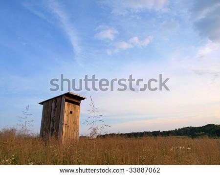 Vintage toilet. - stock photo