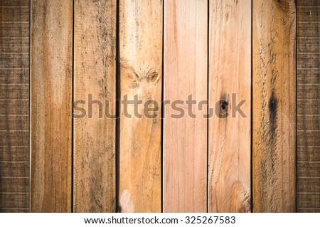 Vintage tone, wood texture - stock photo