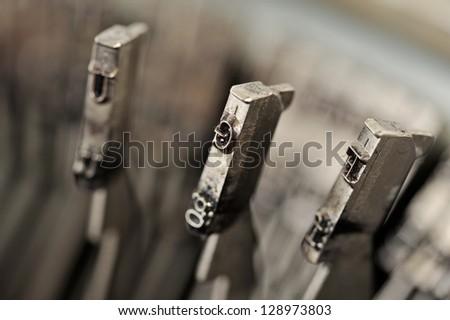 Vintage typewriter detail - stock photo