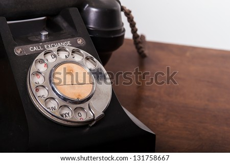 Vintage UK General Post Office 332 Director Telephone (Handset Micro Telephone) circa 1946 - stock photo