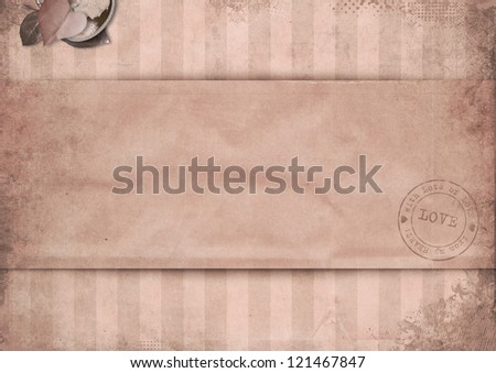 Vintage valentine background with space for text or photo - stock photo