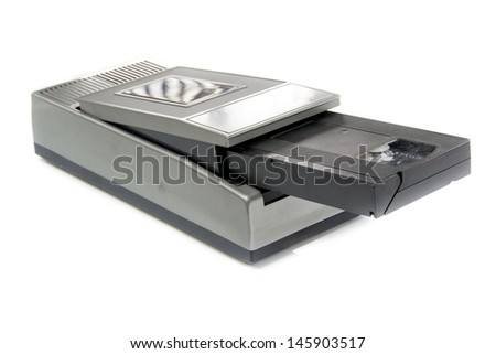 Vintage VHS Rewinder - stock photo