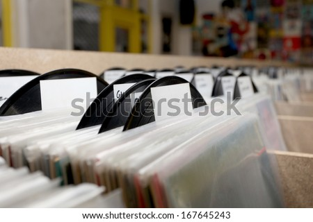 Vintage Vinyl Records - stock photo
