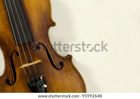 Vintage viola on white background - stock photo