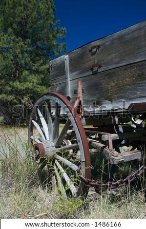 vintage wagon - stock photo