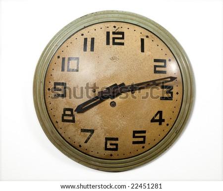 vintage wall-clock - stock photo