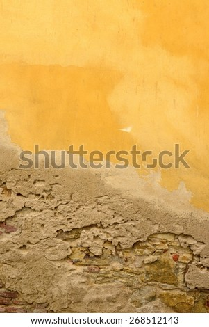 vintage wall in Prague city center in Czech republic - stock photo