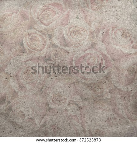 vintage wallpaper background with rose - stock photo
