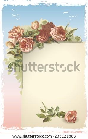 Vintage Wedding Menu Page.  - stock photo