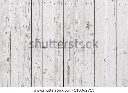 vintage white wooden wall background - stock photo