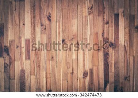 vintage wood background, timber wood wall barn plank texture, image used vignette retro vintage filter - stock photo