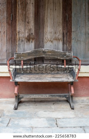 Vintage Wood Chair - stock photo